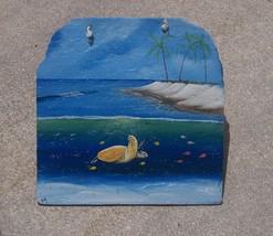 Sea Turtle hand painted Slate Painting nautical decor sea life animal ro... - £45.53 GBP