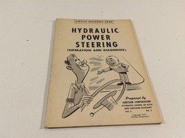 1952 Chrysler Corporation Service Reference Book V5 No2 Hydraulic Power Steering - $14.99