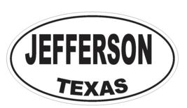 Jefferson Texas Oval Bumper Sticker or Helmet Sticker D3530Euro Oval - $1.39+