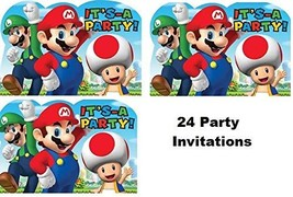 Hallm Super Mario Brothers Decoration Party Birthday Invitations Invite ... - $19.75