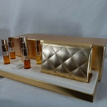 Estee Lauder Golden Luxries Set 7 Pieces5 Scents and Golden Colored Bag In Box - $31.75