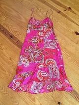 Sonia Trussardi Sepe Women's Dress 100% Silk Red & Pink Paisley Size P NWT - $134.64