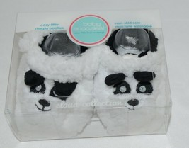 Baby Snoozies 1300Pand White Black Cozy Sherpa Booties Panda Size 3 to 6 Months image 2