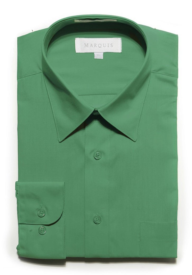 Primary image for Marquis Men's Emerald Long Sleeve Regular Fit Dress Shirt
