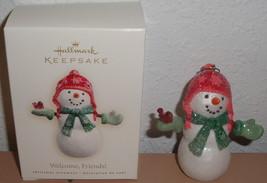 2007 HALLMARK ORNAMENT - Welcome Friends Snowman Box Christmas Sickman S... - $3.99