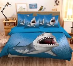 3D Sea Shark 279 Bed Pillowcases Quilt Duvet Cover Set Single Queen King Size AU - $64.32+