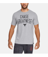 Under Armour Mens UA Project Rock Chase Greatness HeatGear T-Shirt 13263... - £21.38 GBP