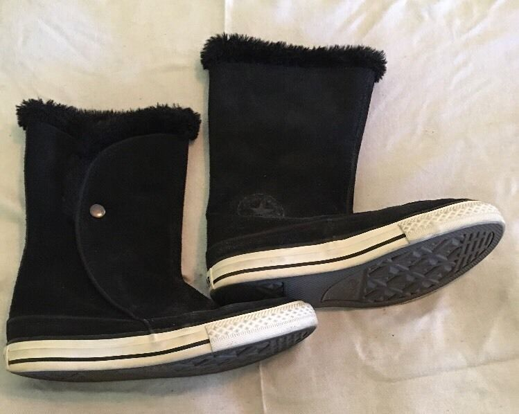 18f0f2adfa2487 Converse All Star Black Suede Boots Junior and 50 similar items