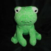 """6 """" Animale Avventura 2016 Bambino Verde Lavorato a Maglia Rana Froggy Peluche - $17.59"""