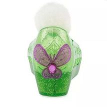 Disney Store Deluxe Tinkerbell Slip In Glitter Jelly Wedge Shoes Pom Pom Sz 2/3 image 4