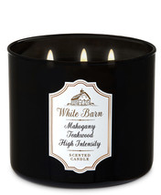 White Barn Mahogany Teakwood High Intensity 3 Wick 14.5 Ounces Scented C... - $22.49