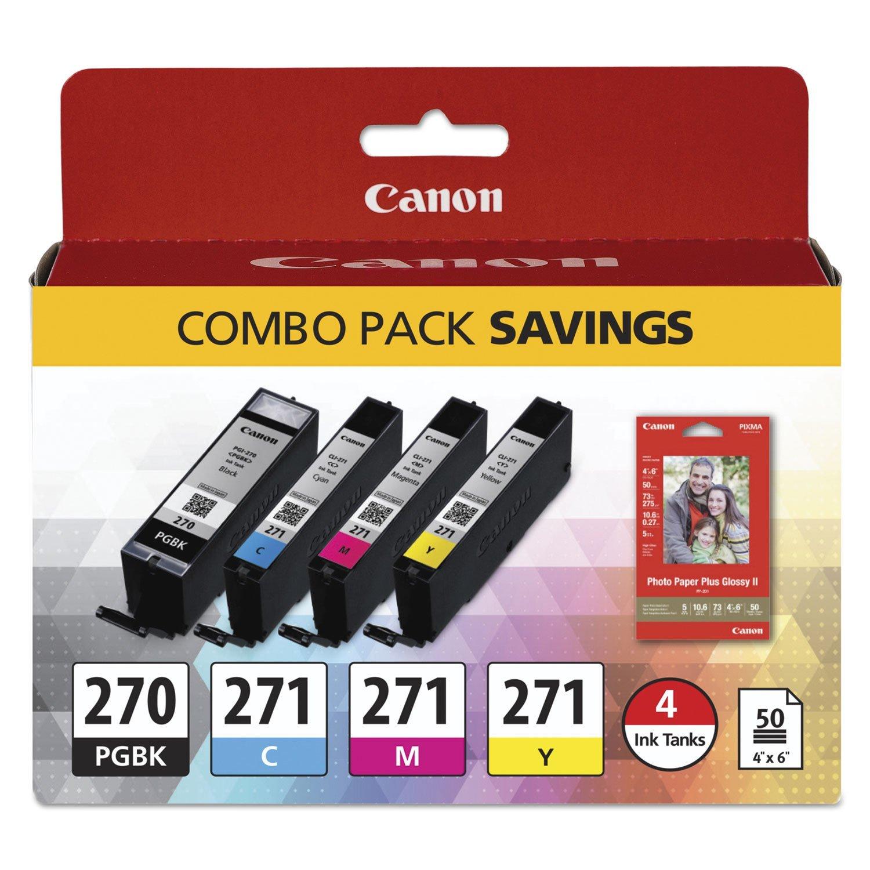 Canon PGI-270/CLI-271 4-Color BK/CMY Ink Cartridge for PIXMA MG5720 MG5721 MG572 - $104.99