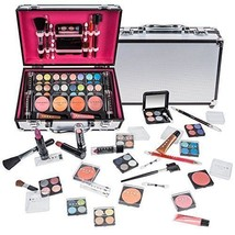 Makeup Set Kit Make Up Train Proffesional Case Aluminum Cosmetics Women ... - $56.39
