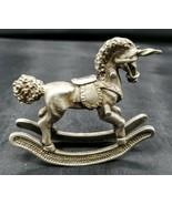 Spoontiques 1982 'Unicorn Rocking Horse' Retired Pewter Miniature Figure... - $14.84