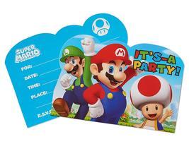 Super Mario Brothers Postcard Invitations - $11.50
