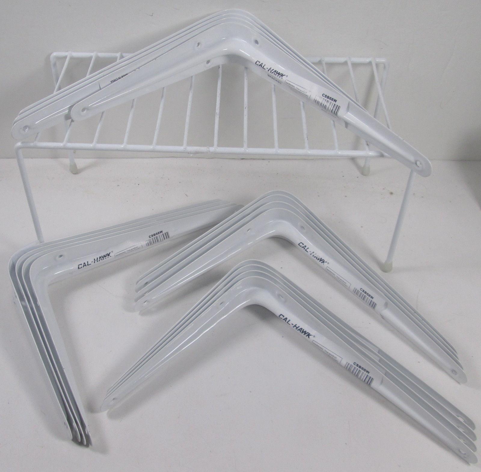 "16 Cal Hawk Tools 4"" x 5"" Shelf Bracket - White"