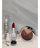 TIGI Cosmetics Knockout Set - Eyeliner Eyeshadow Lip Luxe-Gloss & Red Li... - $679,77 MXN+