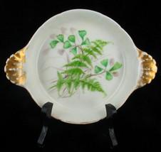 Antique Haviland Limoges Ramikin Cream Brulee Dish Hp Ferns & Flowers Pretty - $35.99