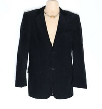 Men's Vintage ZARA MAN Fitted Tailored Black Corduroy Blazer Suit Jacket... - $51.75