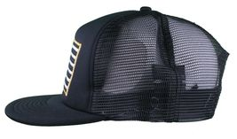Dissizit! Black Mesh American Cross Bones Flag Trucker Baseball Hat image 5