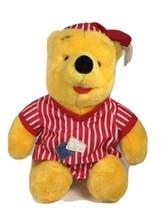 Disney Mattel Winnie The Pooh Plush In Pajamas From 1998 Vintage - $25.37