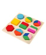 Toys Puzzle Learning Education Montessori Wooden Math Equipment Geometry... - $6.96