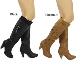 New Wild Diva Merton-08 Buckle Round Toe Knee High Boots Size 5.5-10 - $24.99