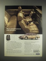 1990 Ford Taurus SHO Ad - We've mixed business with pleasure - $14.99