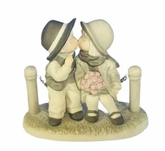 Kim Anderson Pretty as picture figurine vtg porcelain with love kisses bench '96 - $29.65