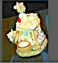Vintage Music Box Sculpture with Trinket Box AA19-1411 image 2