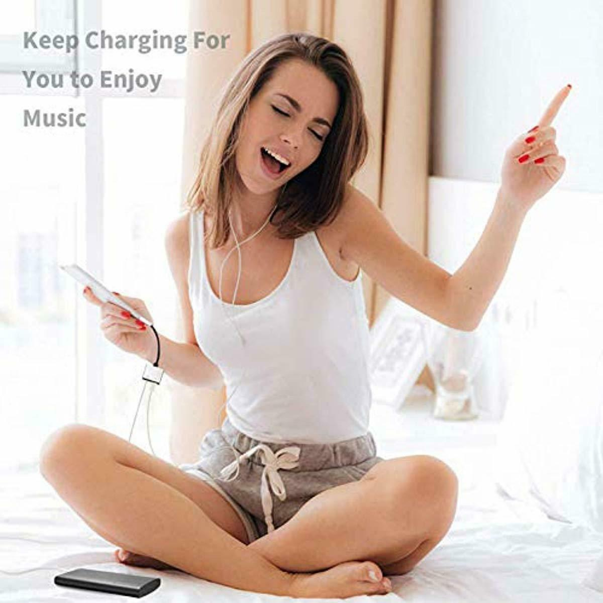 Adapter to 3.5mm Splitter Converter Compatible Charger Adaptor for iPhone New
