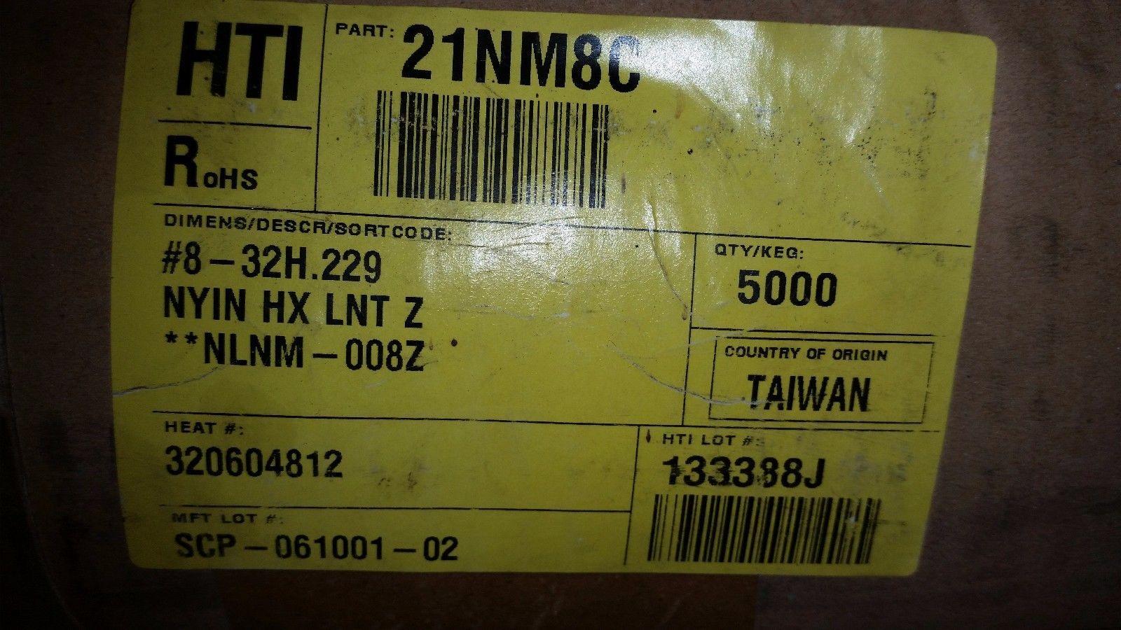5000 pcs Nylock #8 Hex Machine Nuts 8-32 Zinc Plated Nyloc nylon insert free shp
