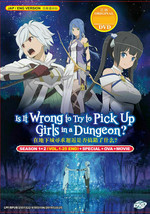 Is It Wrong to Try to Pick Up Girls in a Dungeon Season 1 & 2 +Special+OVA+Movie