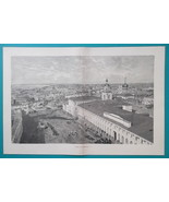 RUSSIA View of Astrachan Astrakhan - 1880s Wood Engraving Print - $25.20