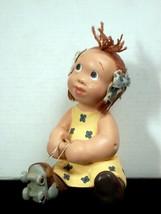 Enesco June Somerford 1994 Carrie Mae 'Seven, Eight, Tie my Skate' Figurine - $9.99