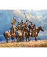 Gathering Storm Martin Grelle Native American Western Canvas Print 12x16 - $197.01