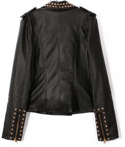 Handmade New Fashion Studded Leather Jacket for Womens