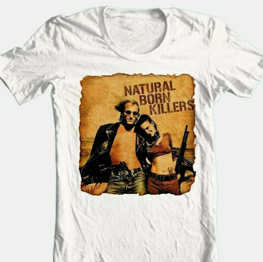 Natural Born Killers T shirt retro 90's movie 100% cotton graphic tee Dusk Dawn