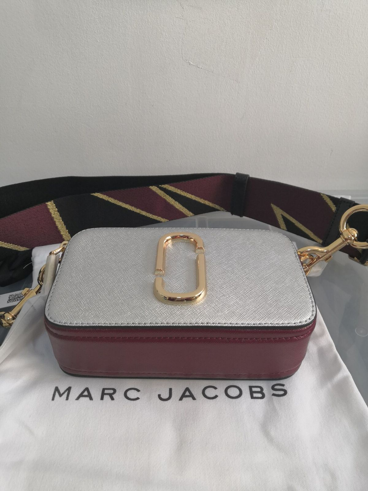 1a569be84e813 Marc Jacobs Snapshot Small Camera Bag Crossbody Bag Silver Multi Auth