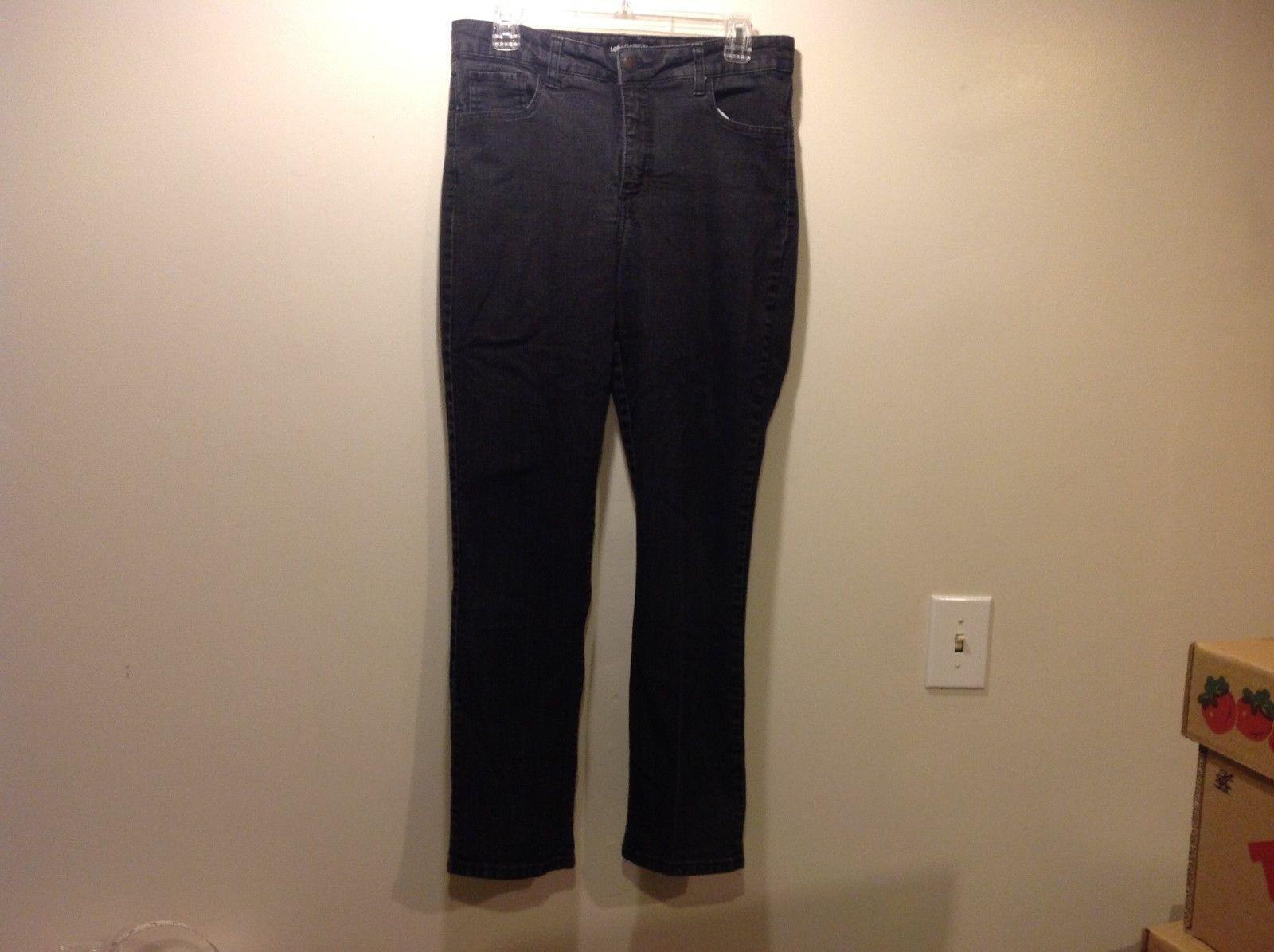 Ladies Lee Classic Fit Black Jeans Sz 12 Medium