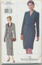 Vogue Sewing Pattern 7476 Misses Career Suit Dress Jacket Skirt Size 14 ... - $17.81