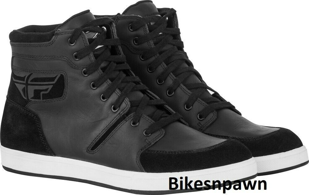 New Size 10 Mens FLY Racing M16 Black Waterproof Motorcycle Street Riding Shoe