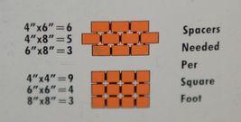 Barwalt 16130 Orange Precision Spacers Ceramic Tile Three Sixteenth Inch image 4