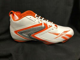 NWB Reebok Men Football Turf Shoe cleats NFL ferocious white orange  *19 - $14.01