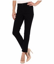 "NYDJ Petite Kiara Legging Moto in Black Women's Jeans Inseam 27"" in Size... - $68.31"