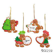 Fun Express Gingerbread Characters with Cookie Christmas Ornaments  - $18.73