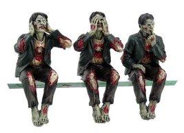 Walking Undead Wise Zombie Walkers See Hear Speak No Evil Shelf Sitters ... - $18.99