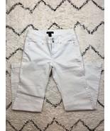 White House Black Market WHBM Women's White Trouser Leg Jeans with Bling... - $26.94