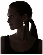 Tova 14mm x 10mm Swarovski Clear Crystal Gold Tone Triangle Kite Drop Earrings image 2