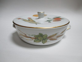 Royal Worcester Evesham Gold Flat Lid Covered Casserole 1.25 Qt - $38.60